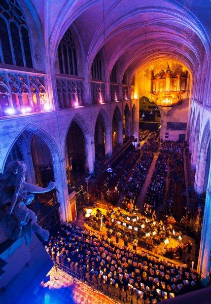 Concierto de la ORA:Requiem Mozart, Catedral Saint-Etienne Toulouse (Francia) 20/21 de abril 2017. Fotografia de Javier Broto