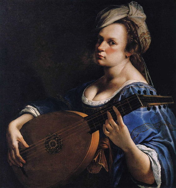 Artemisia Gentileschi: Autorretrato tocando el laúd. 1615-1617. Curtis Galleries, Minneapolis