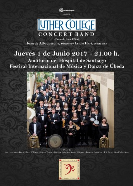 Concierto de la Luther Collegue Concert Band en Ubeda