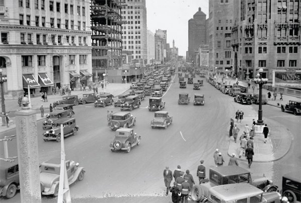 Chicago en 1929. Avda Michigan
