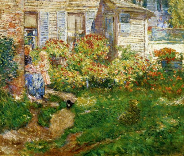 Childe Hassam: Fishermann cottage