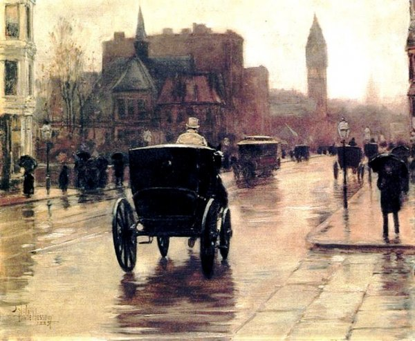 Childe Hassam: Columbus Avenue