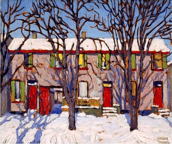 Lawren S. Harris - Toronto Houses, c. 1919. National Gallery of Canada, Ottawa, ON, Canada