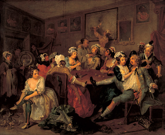 William Hogarth, The Rake's progress