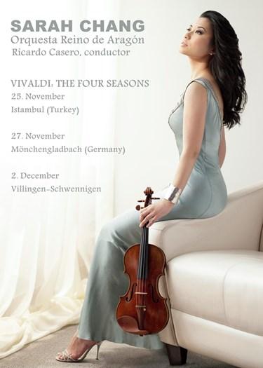 Sarah Chang de gira con la Orquesta Reino de Aragon